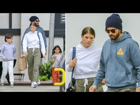 BUSTED! Scott Disick And Sofia Richie Take Scott's Kids To Dinner Despite Kourtney's Objections