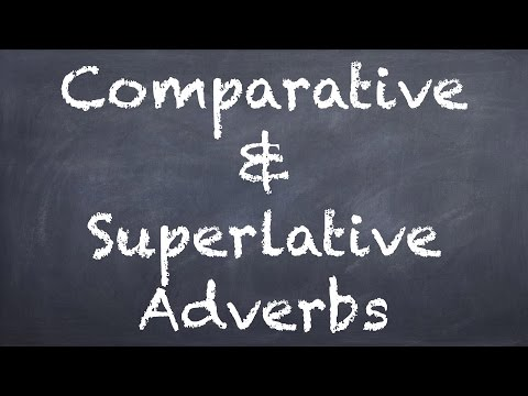 Comparative & Superlative Adverbs - German 2 WS Explanation - Deutsch lernen