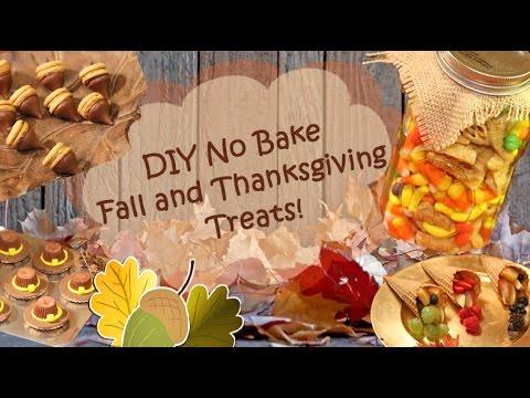 DIY No Bake Fall And Thanksgiving Treats