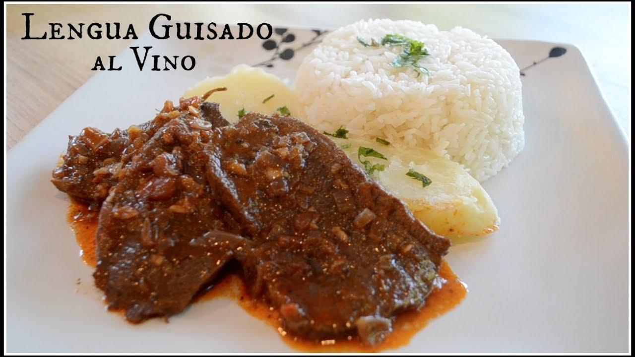 Lengua Guisado Al Vino Cocina Peruana Youtube