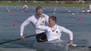 Germany Victorious - Men's Canoe Double 1000m   London 2012 Olympics