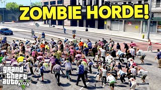 GTA 5 Mods - BIGGEST ZOMBIE INFECTION!! (GTA 5 Funny Moments)