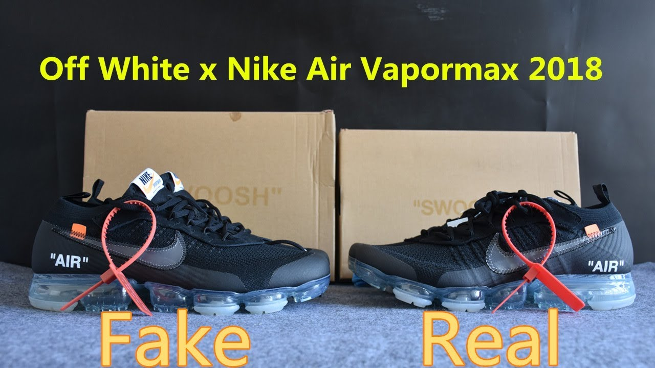 8c17836723e79 First Look! REAL VS FAKE Off White x Nike Air Vapormax Black 2018 ...