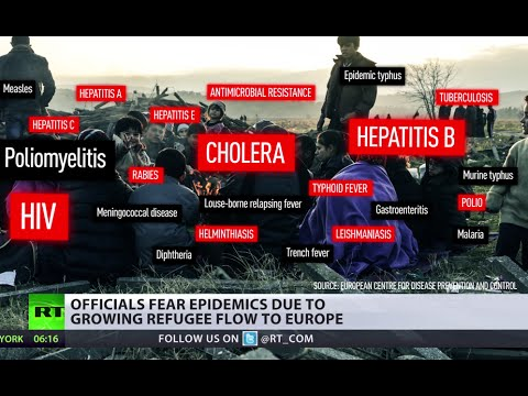 Epidemics fears in EU: HIV, polio, cholera & more detected in refugee camps