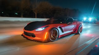 900hp ZR1 vs 850hp Charger Hellcat! Hellcat vs Houston F1X z06, FBO CTSV and more! Insane Racing! 4K
