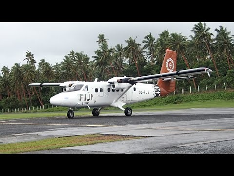 Fiji Airways DHC-6 Twin Otter Taveuni Island to Nadi Fiji