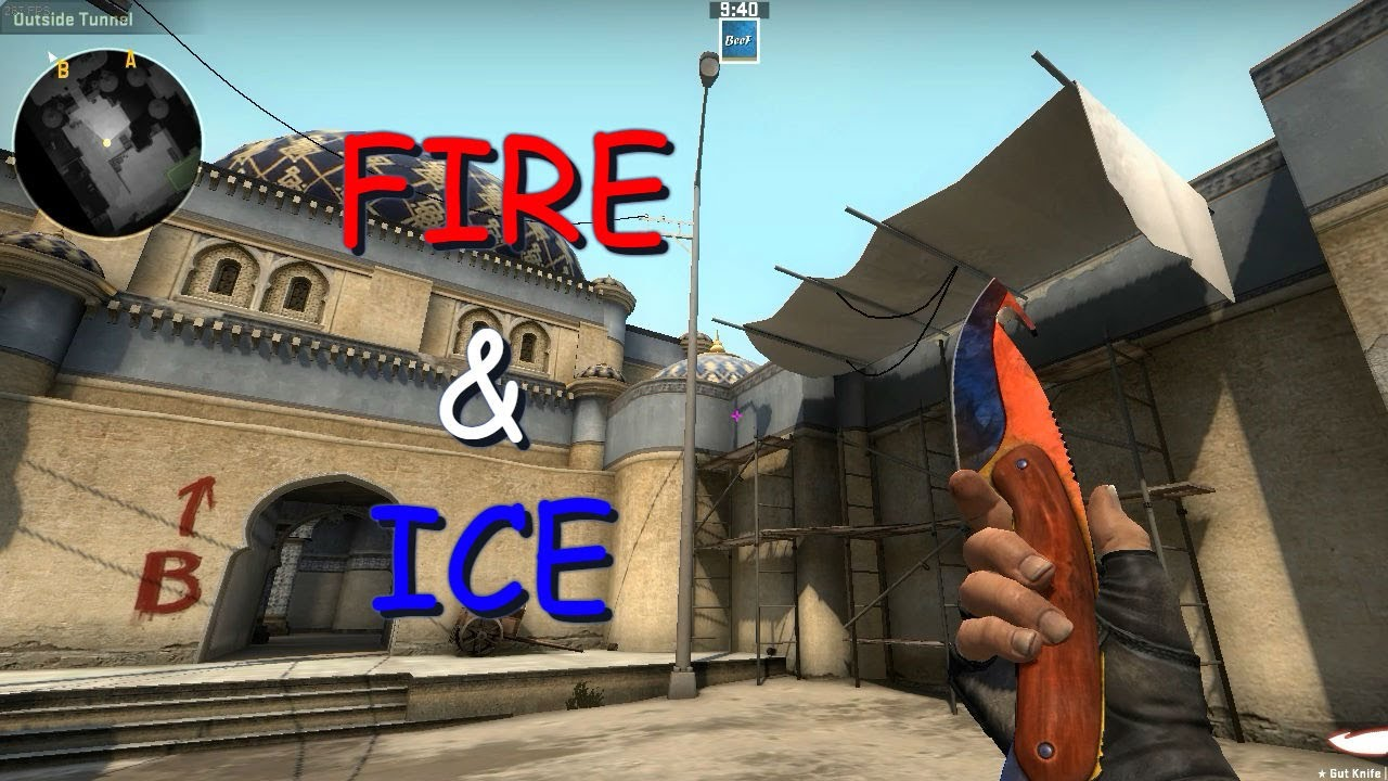 gut knife marble fade fn fire ice youtube