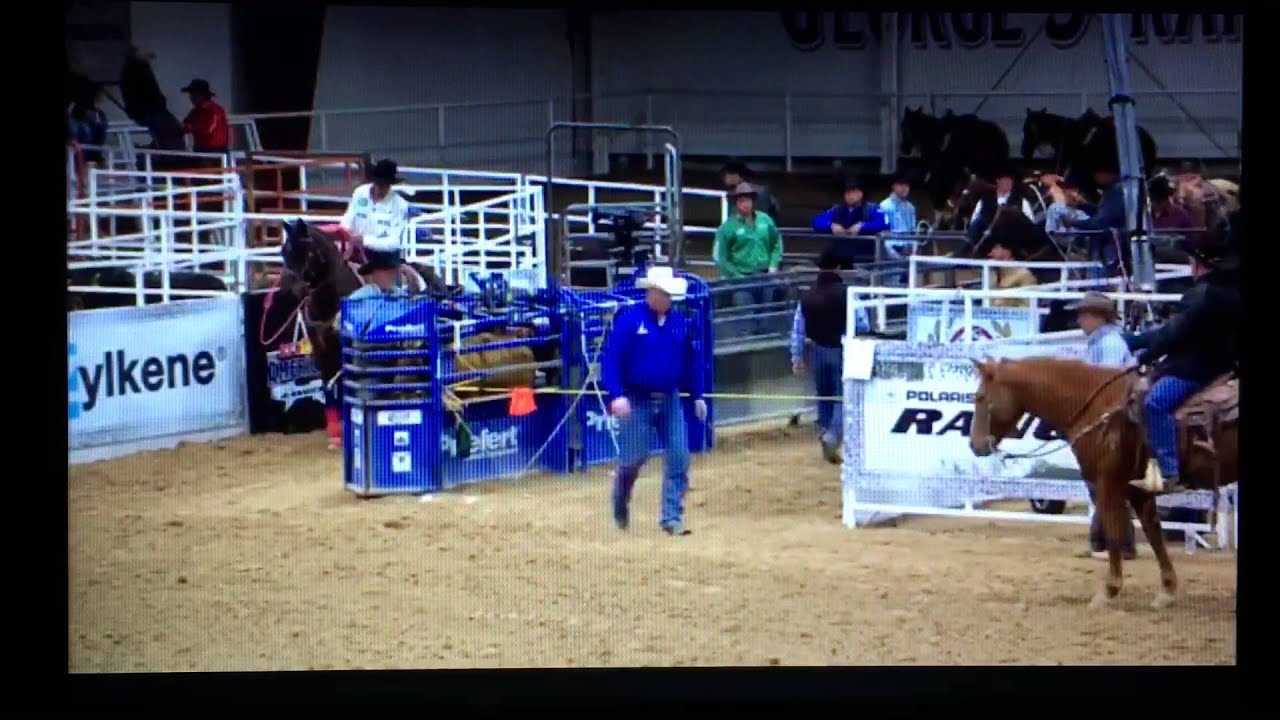 2016 The Gold Buckle Match Point Team Roping Youtube