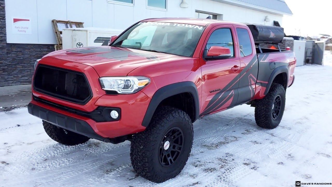 Lifted 2016 Toyota Tacoma on 35X12.50R17 Tires - YouTube
