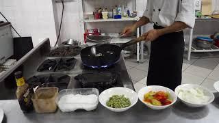 """Рецепт уйгурского блюда """"Табан py"""" от Mapyпa Xoшнaзapoва"""