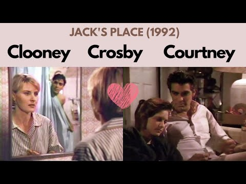 George Clooney in love with Courtney Thorne-Smith on Jack's Place (1992)