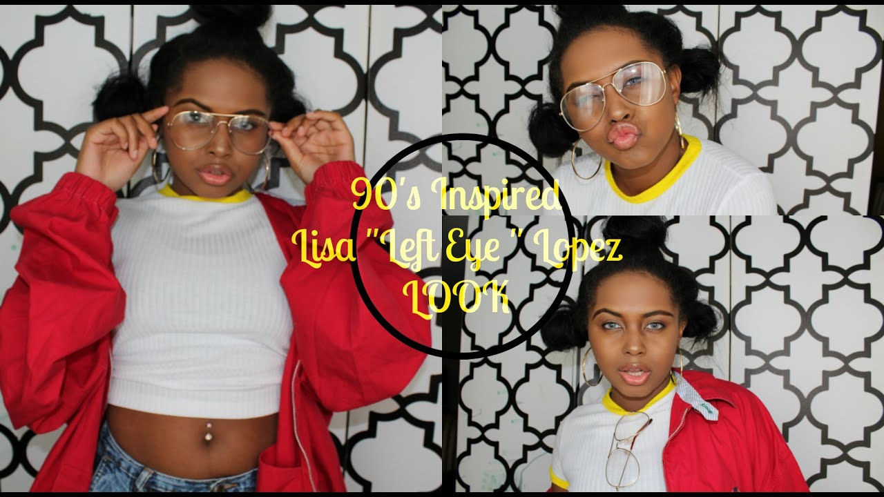 "90s ""Left-Eye"" Inspired Hair + Makeup + Outfit - YouTube 