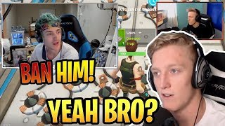 Tfue Reacts to Ninja Reacting to Tfue BANNED for Exploits! - Fortnite Best and Funny Moments