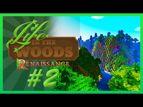 I DIED!!!!- Minecraft Life In The Woods Renaissance  | Ep:002|