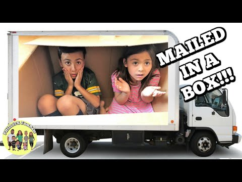 📦 MAILING KIDS IN A BOX 📦 | SHIPPING KIDS TO CALIFORNIA IN A BOX 📦