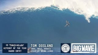 tom dosland at jaws 2016 tag heuer wipeout of the year entry wsl big wave awards