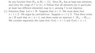 Section 5.1(c), part 1 Proof of Pigeonhole Principle