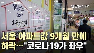 """서울 아파트값 9개월 만에 하락…""""코로나19가 좌우"""" …"""