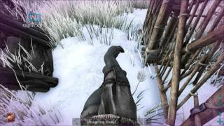 ARK: Survival Evolved trapping someone in a wooden cage