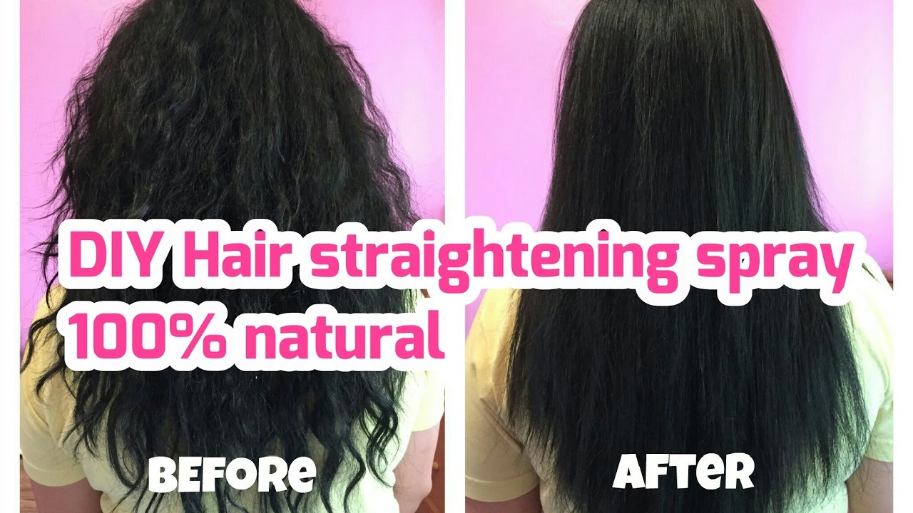 Diy hair straightening spray at home easy natural diy hair straightening spray at home easy natural straightening without heat solutioingenieria Images