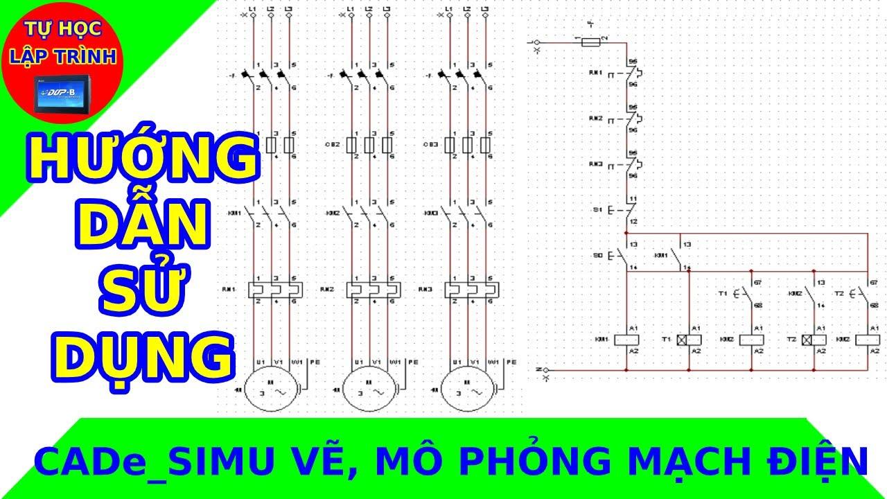 Sử dụng phần mềm CADe_SIMU vẽ, mô phỏng mạch điện cực nhẹ và tiện dụng