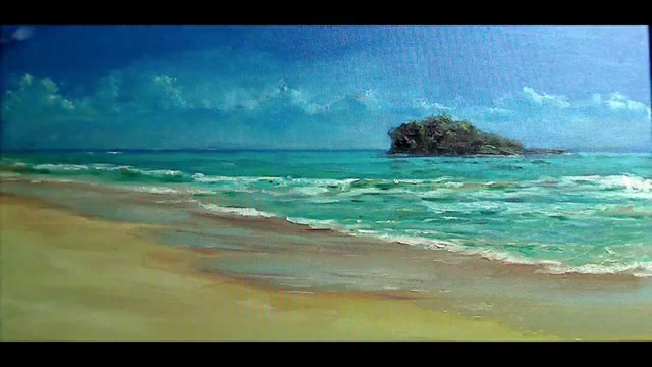 Seascape Oil Painting - YouTube