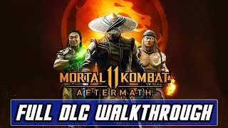 Mortal Kombat 11: Aftermath [PS4 PRO] Gameplay Full DLC Walkthrough - All Choices, Fights, & ENDINGS