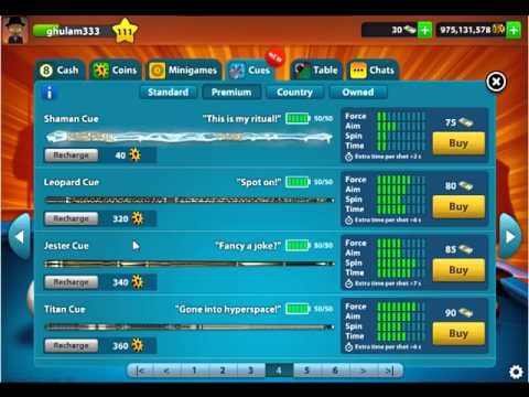 8 Ball Pool By Miniclip Buy A New Cues At 8 Ball Pool