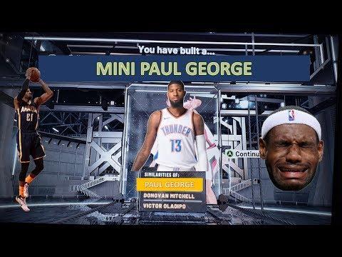 MINI PAUL GEORGE NBA 2k20 BUILD   2 Way Sharp   2 Way 3pt Facilitator