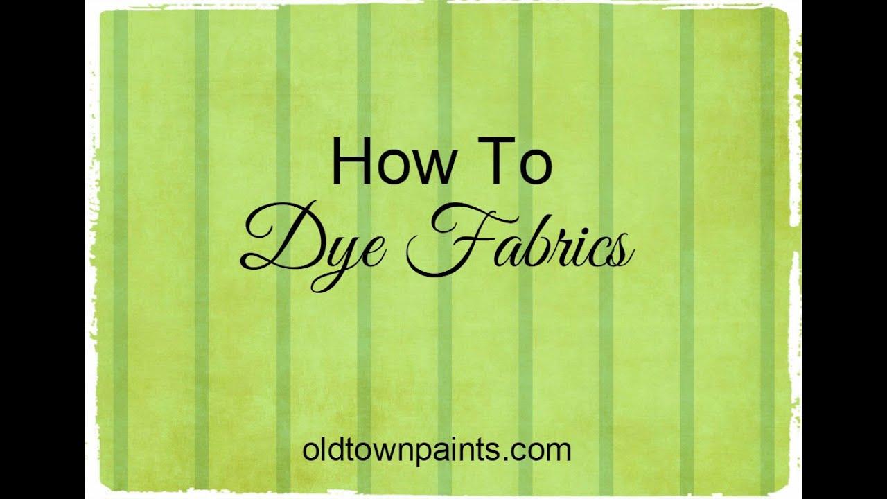how to make fabric dye