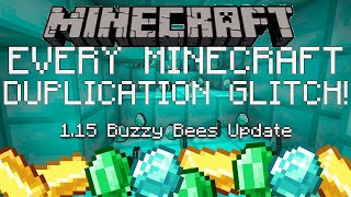 EVERY MINECRAFT DUPLICATION GLITCH YET! Minecraft BEDROCK for ALL PLATFORMS! PS4 Xbox PC Switch