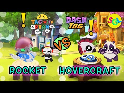 ROCKET vs HOVERCRAFT - Tag with Ryan & Dash Tag - Infrared-Robo & Checkers - Ryan ToysReview Game