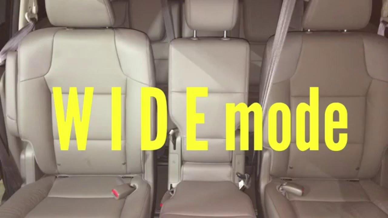 Honda Odyssey wide mode for 3-across - YouTube