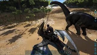 ARK Survival Evolved Одиночка 12 - Минимальный овираптор и погоня за бронто