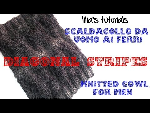 Lilla's Tutorial: Knitted Cowl For Men, Free Pattern