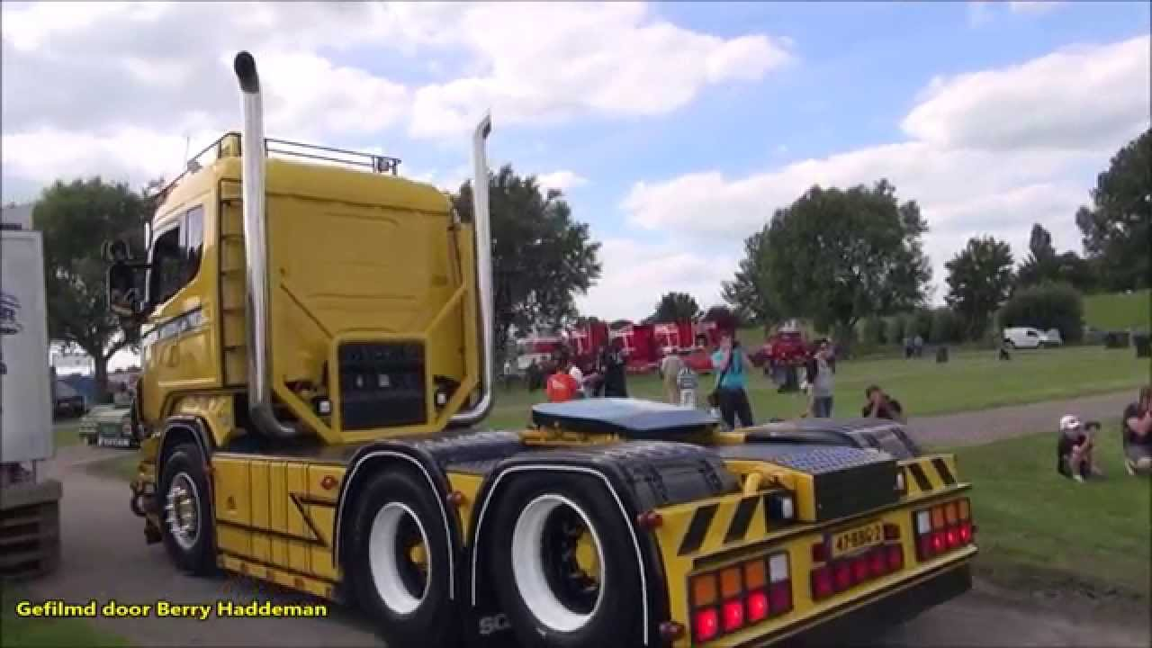 Scania V8 | Open pipe exhaust sound! - Truck meeting | Nog ...