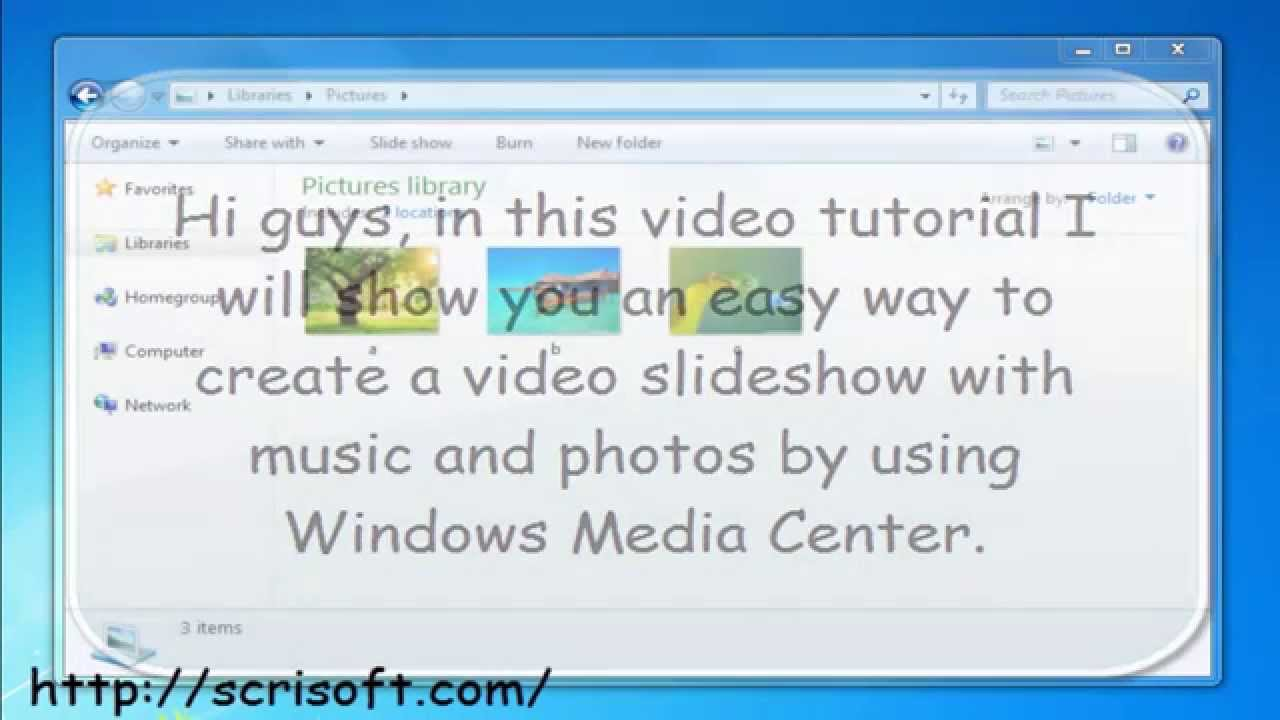 how to make a slideshow with music on windows