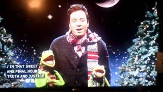Jimmy and kermit christmas song
