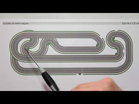 50-Circuito Salon, Scalextric, SCX, diseño, pistas