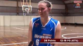 2013 Season Round 17 - Lauren King - Bendigo Lady Braves