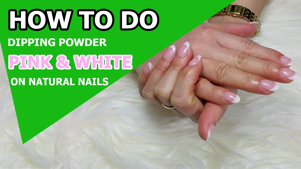 How To Do Pink White Dipping Powder Sns Nails Regal Salon