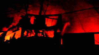 Сильнейший пожар в Киеве на складах возле парка Пушкина(В Киеве в районе станции метро