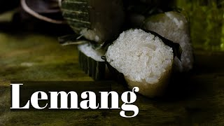 Cheat Lemang  Glutinous rice wrapped in Banana leaf