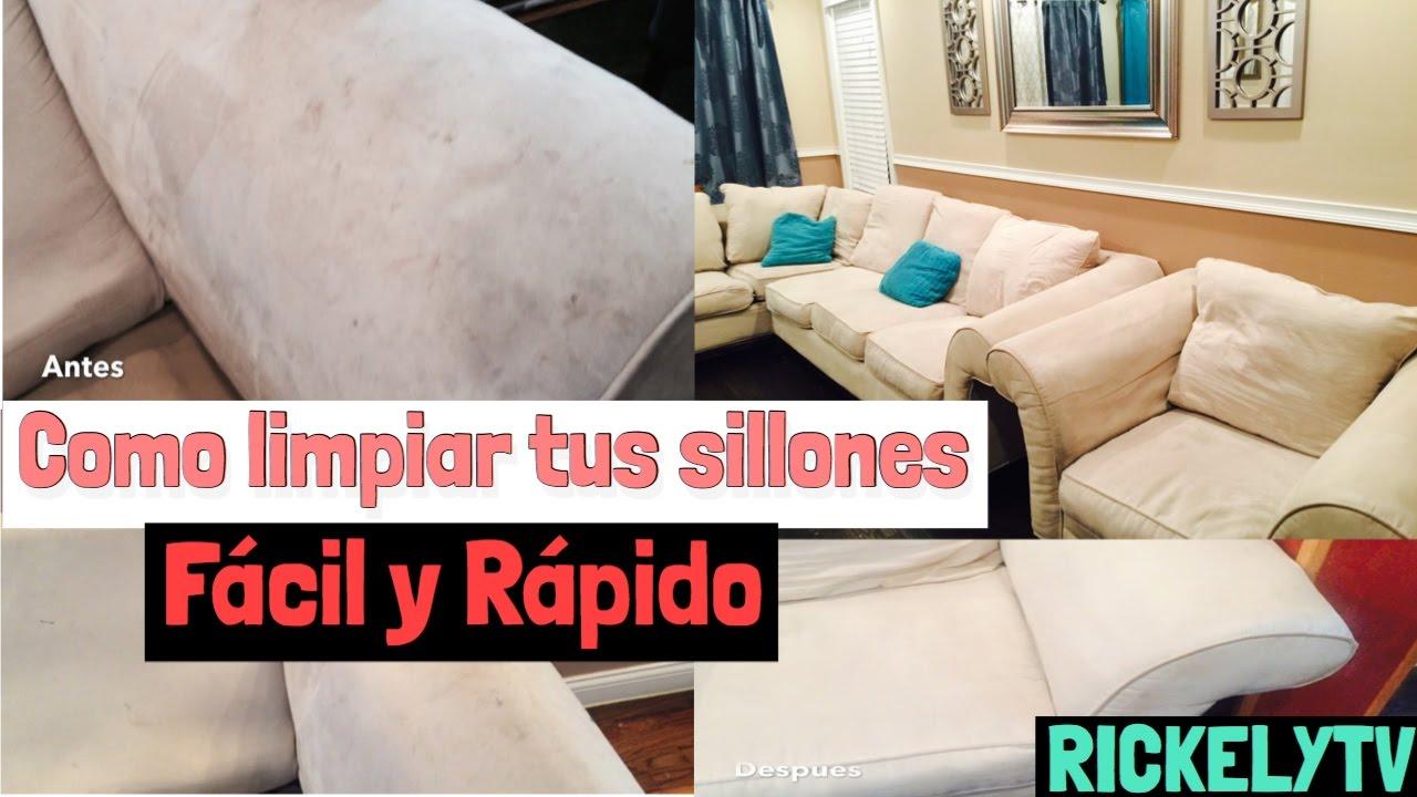 Como limpiar los sillones sofas f cil y r pido youtube - Como limpiar un sofa ...
