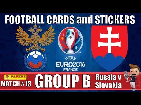 RUSSIA v SLOVAKIA   GROUP B   Football Cards & Stickers PANINI UEFA EURO 2016   MATCH #13