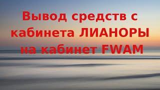 Five Winds Asset Management. Вывод средств с Лианоры на кабинет FWAM