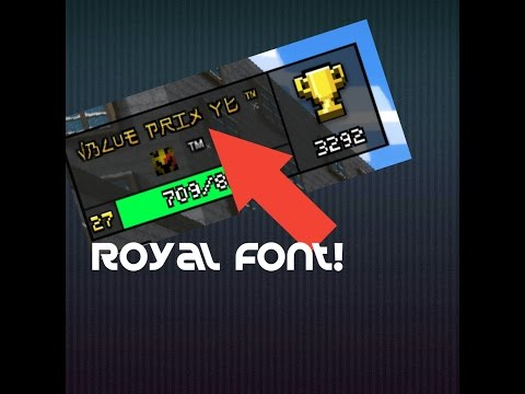 HOW TO GET A COOL ROYAL FONT IN Pixel Gun 3D Or ANY GAME! (Easy + No Root)