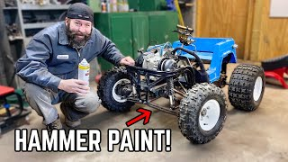 4WD Bronco Power Wheels Go Kart TRANSFORMATION! Paint and Finishing Touches!