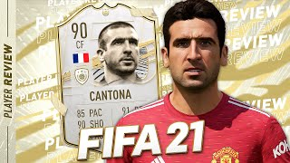 THE BEST CAM? FIFA 21 90 CANTONA PLAYER REVIEW! - FIFA 21 Ultimate Team
