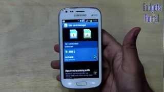 Samsung GALAXY S DUOS REVIEW: Dual SIM Calling (Smart Dual SIM) by Gadgets Portal